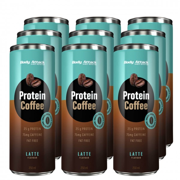 Body Attack Protein Coffee (12x250ml)