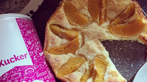Pfirsich-Protein-Kuchen