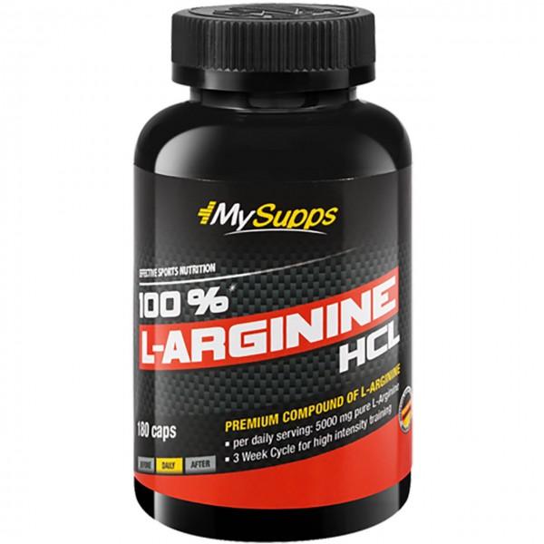 My Supps 100% L-Arginine HCL (180 Kapseln)