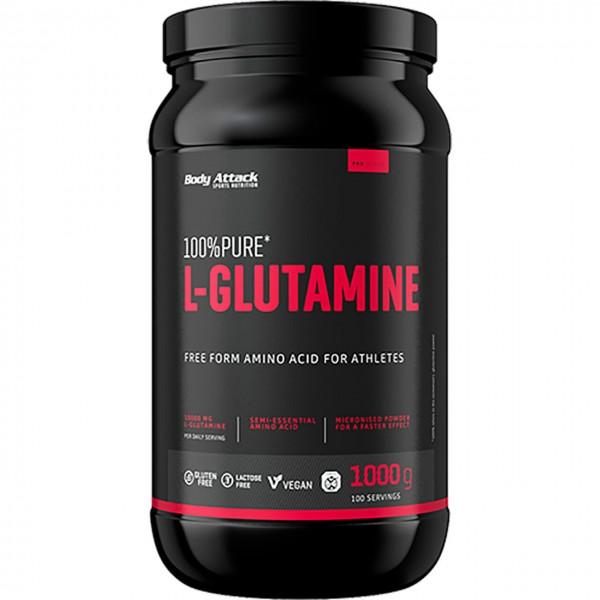 Body Attack 100% Pure L-Glutamine (1000g)