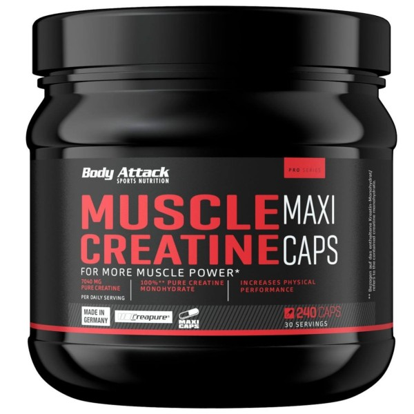 Body Attack Creapure Muscle Creatine (240 Kapseln)