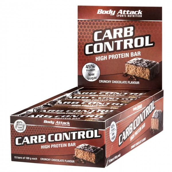 Body Attack Carb Control Proteinriegel (15x100g)