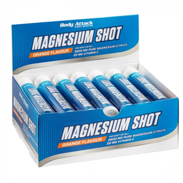 Body Attack Magnesium Shot (20x25ml)